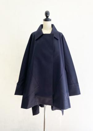 COGTHEBIGSMOKE SQUARE COAT(MIDNIGHT)